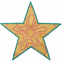 GO! Fabric Cutting Dies Star 5 Point By Sarah Vedeler