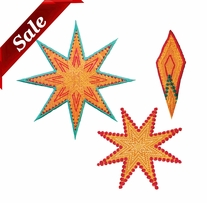 GO! Fabric Cutting Dies Star 8 Point By Sarah Vedeler
