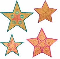 GO! Fabric Cutting Dies Star Medley 5 Point By Sarah Vedeler