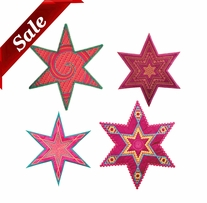 GO! Fabric Cutting Dies Star Medley 6 Point By Sarah Vedeler