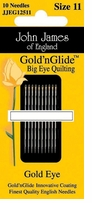 Gold'n Glide Big Eye Quilting Needles Size 11