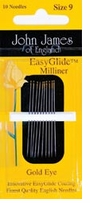 Gold'n Glide Milliners Needles Size 10
