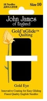 Gold'n Glide Quilting Needles Size 10