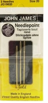 Gold Tapestry Hand Needles Size 20 3/Pkg