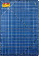 Gridded Cutting Mat Royal Blue 24inX36in