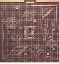 Gridded Rotary Mat Printed With Quilting Templates