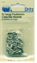 Gripper Snaps Nickel 7/16in 15/Pkg