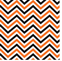 Halloween Chevron 43/44in Wide 100% Cotton D/R Multi White/Orange/Black