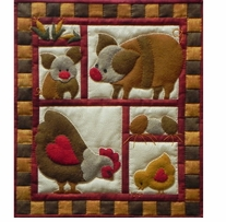 Ham And Eggs Quilt Kit 13inx15in