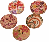 Hand Painted Wooden Buttons BE1003