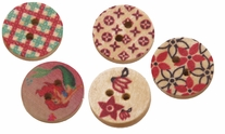 Hand Painted Wooden Buttons BE1005