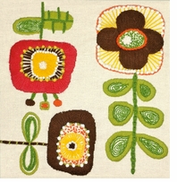 Handmade Collection Blooms Crewel Embroidery Kit