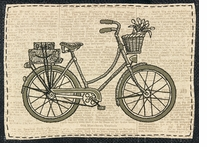 Handmade Collection Classic Bicycle Stamped Embroidery Kit