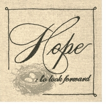Handmade Collection Hope Sentiment Stamped Embroidery Kit