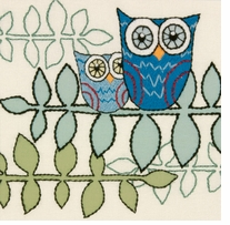 Handmade Collection Owl Crewel Embroidery Kit