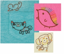 Handmade Collection Sweet Animals Embroidery Transfer