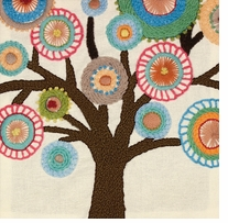 Handmade Collection Tree Crewel Embroidery Kit