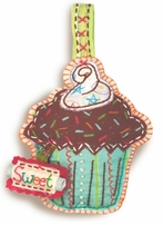 Handmade Cupcake Ornament Embroidery Kit