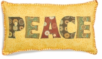 Handmade Peace Pillow Embroidery Kit