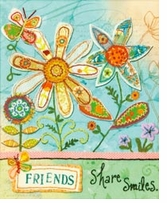 Handmade Refresh Friends Fabric Applique Embroidery Kit