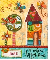 Handmade Refresh Home Is Happy Fabric Applique Embroidery Kit
