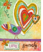Handmade Refresh Love Generously Fabric Applique Embroidery Kit