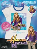 Hannah Montana Iron-On Transfer Floral