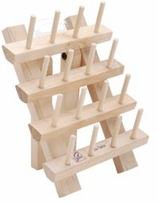 Hardwood Bobbin Rack with Legs Accommodates 32 Bobbins