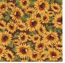 Harvest Blessings Sunflowers 43/44in Wide 100% Cotton D/R Multi
