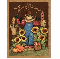 Harvest Blessings Wall Hanging 43/44in Wide 100% Cotton D/R Multi