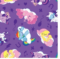 Hasbro My Little Pony Flannel Sleeping Ponies 42/43inX10yds D/R