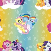 Hasbro My Little Pony Ombre Toss 43/44inX15yds 100% Cotton D/R