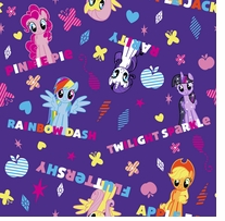 Hasbro My Little Pony Ponies & Names 43/44inX10yds 100% Cotton D/R