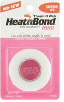 Heatn Bond Iron-On Adhesive Hem Super Weight No Sew