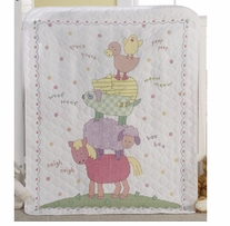 Here-A-Hug Crib Cover Stamped Cross Stitch Kit