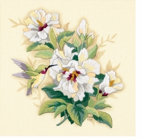 Hibiscus Floral Crewel Embroidery Kit