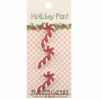 Holiday Buttons Candy Canes