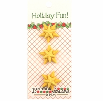 Holiday Buttons Christmas Star