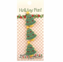 Holiday Buttons Christmas Trees