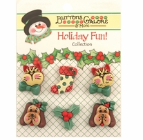 Holiday Buttons Holiday Pets