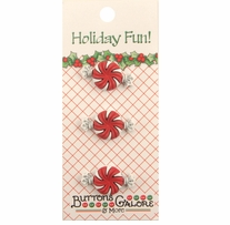 Holiday Buttons Peppermint Candy