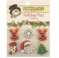 Holiday Buttons Reindeer Games