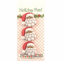 Holiday Buttons Santa