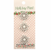 Holiday Buttons Snowflakes
