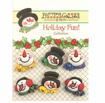 Holiday Buttons Snowman Medley