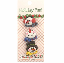 Holiday Buttons Snowmen