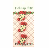 Holiday Buttons Stockings