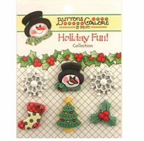 Holiday Buttons Winter Wonderland
