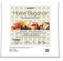 Home Elegance Pillow 18inX18in White