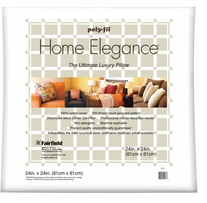 Home Elegance Pillow 24inX24in White